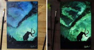نقاشی با رنگ های شب تاب