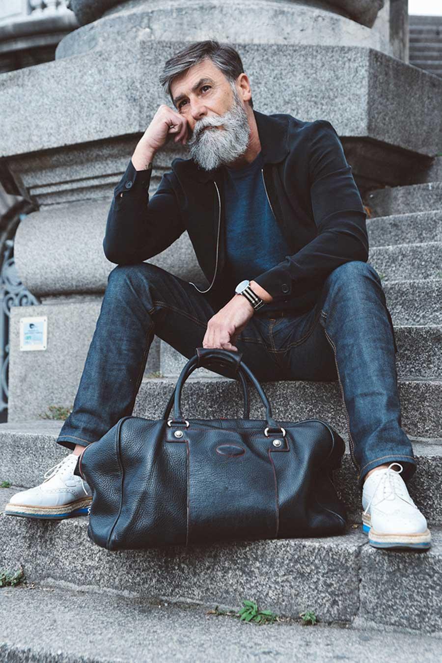 مرد 60 ساله فرانسوی بعد از ریش گذاشتن مدل شد