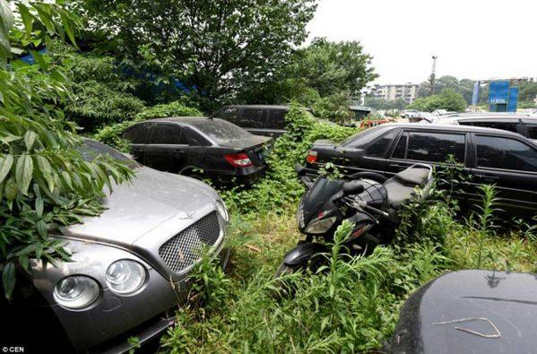 پارکینگی از خودروهای رها شده