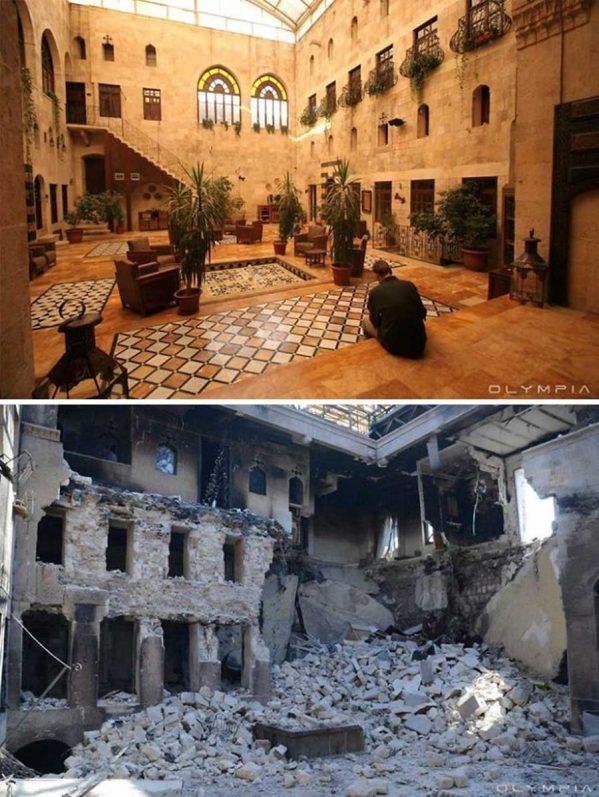 تصاویر قبل و بعد از جنگ در شهر حلب سوریهتصاویر قبل و بعد از جنگ در شهر حلب سوریه