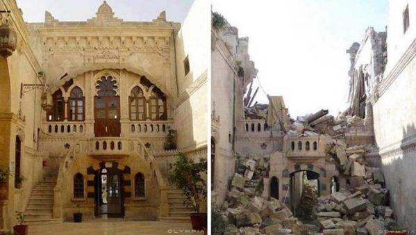 تصاویر قبل و بعد از جنگ در شهر حلب سوریه