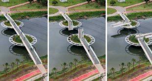 پل متحرک فریدریش بایر در سائو پائولو
