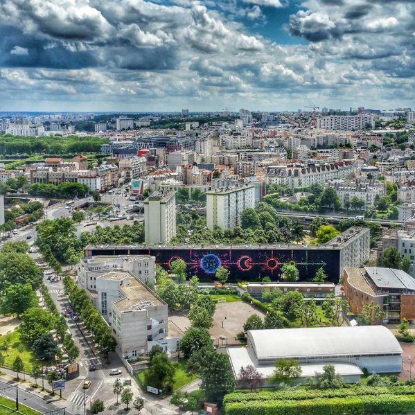 پروژه چرخه قمری با هنر اوریگامی روی ساختمان