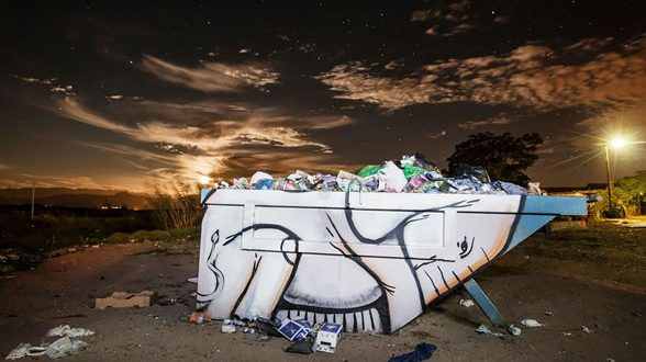 هنر خیابانی نقاشی فیل