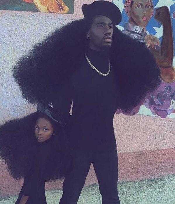 موهای عجیب و دیدنی یک پدر و دختر