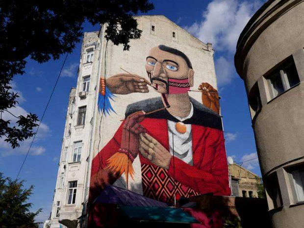 تصاویر عکاسی از هنر خیابانی نقاشی روی ساختمانها
