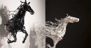 ساخت مجسمه با پلاستیک بازیافتی