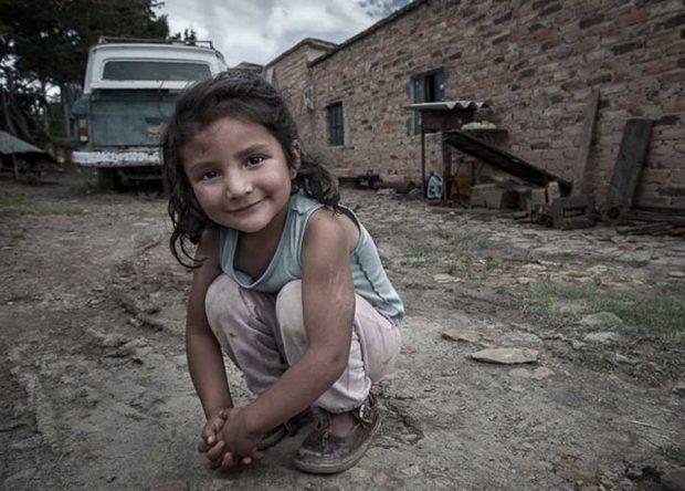 Angelic little Colombian girl from Villa de Leyva.