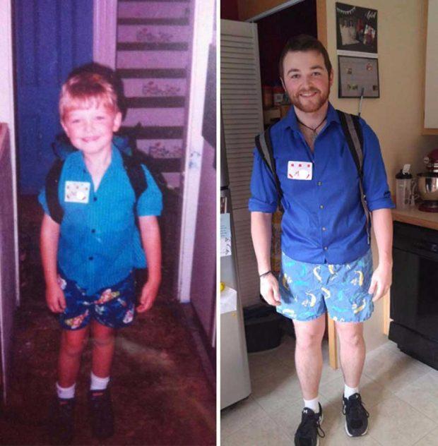 عکس های روز اول مدرسه در کنار روز آخر آن