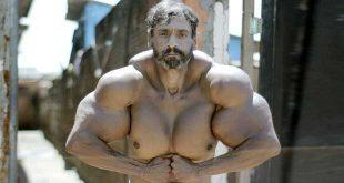 عجیب ترین بدنساز دنیا در برزیل