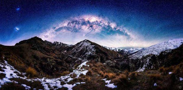 تصاویری از آسمان شب در نیوزلند