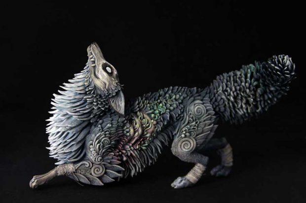 تصاویری از ساخت مجسمه حیوانات با خاک رس نرم