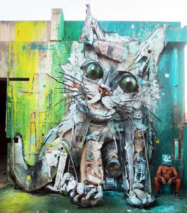 ساخت مجسمه حیوانات با استفاده از زباله