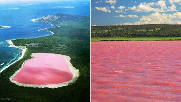 دریاچه صورتی رنگ