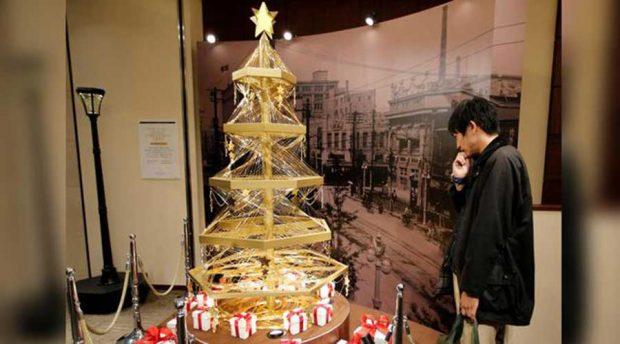 درخت طلای کریسمس به ارزش پنج میلیارد و هفتصد و هفتاد میلیون تومان