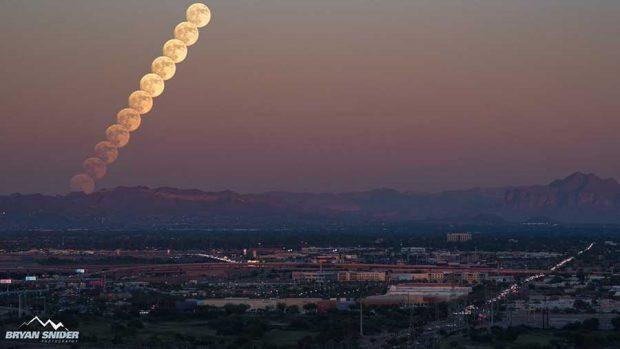 تصاویر شگفت انگیز از واقعه نجومی ابرماه در سراسر جهان