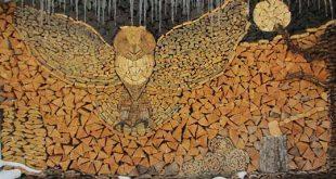 آثار هنری با هیزم