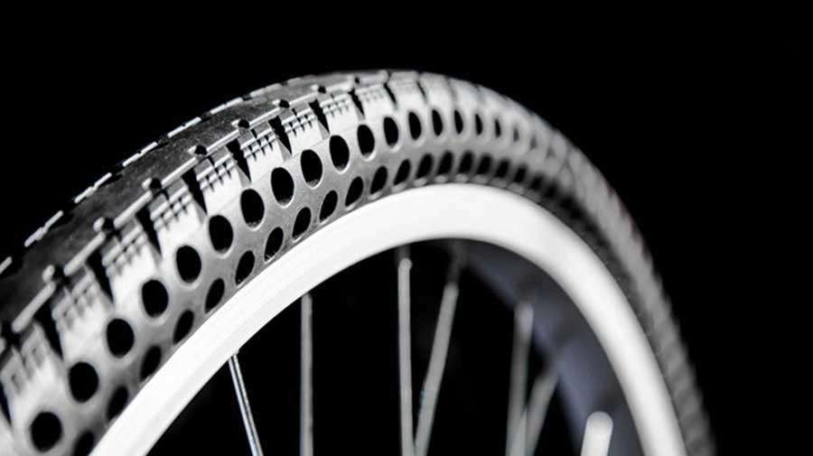 تولید دوچرخه ای جدید با تایرهای بدون پنچری