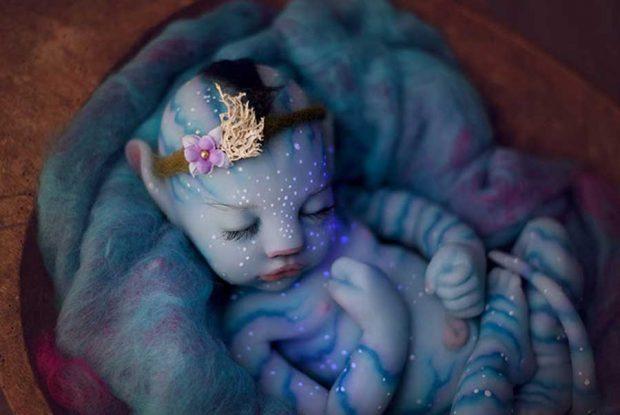 تصاویری شگفت انگیز و یا ترسناک از نوزاد آواتار