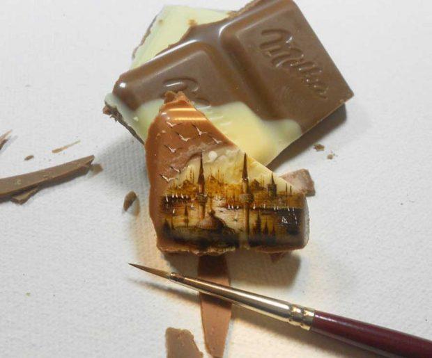 نقاشی مینیاتوری بر روی اشیاء ریز هنر دستان نقاش ترک