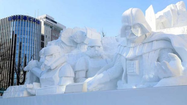 مجسمه برفی