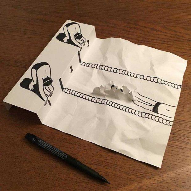 ترسیم نقاشی سه بعدی