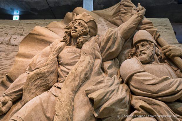 مجسمه های شنی