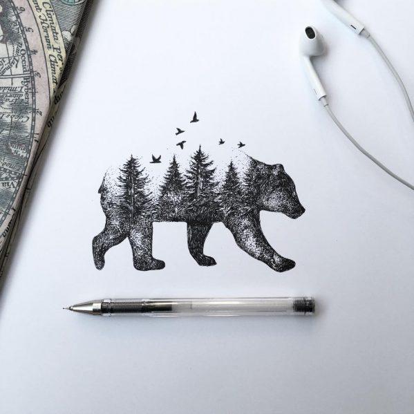 ترکیب حیوانات با دنیای طبیعت