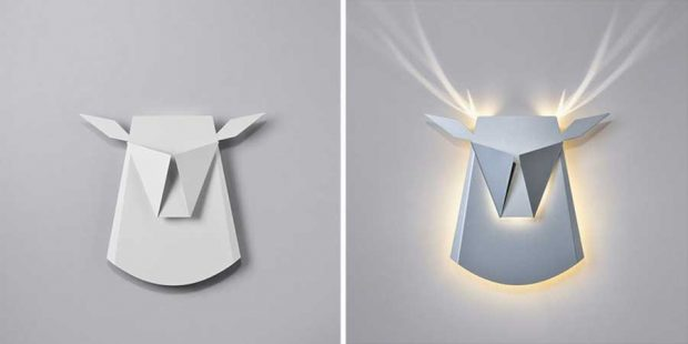 مینیمال های جالبی از حیوانات با استفاده از لامپ و مقوا