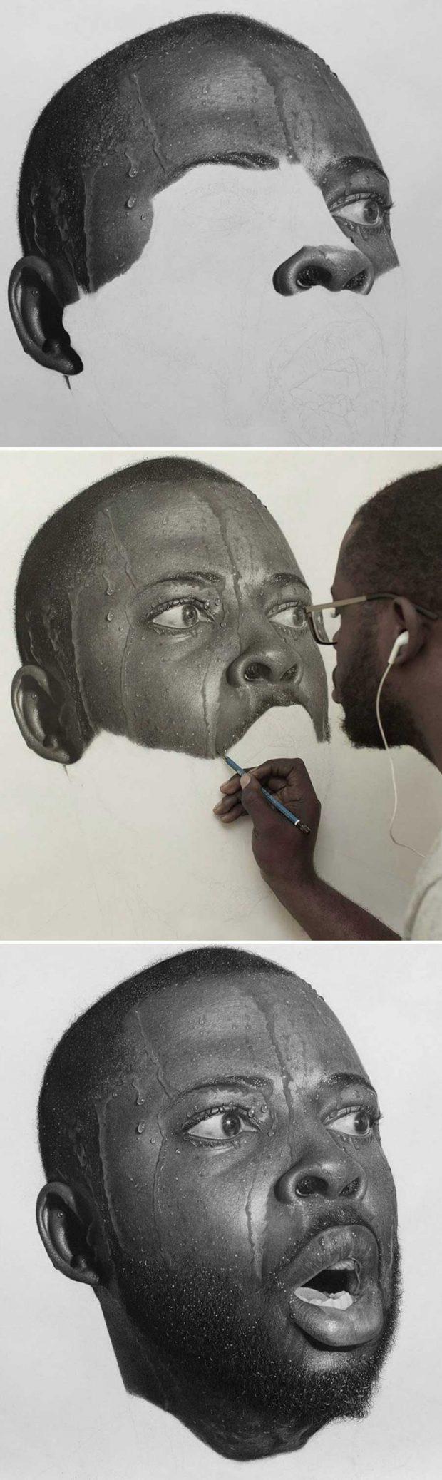 نقاشی های سبک رئال با مداد